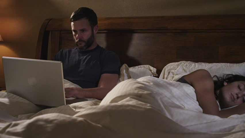 Image result for man on laptop in bed