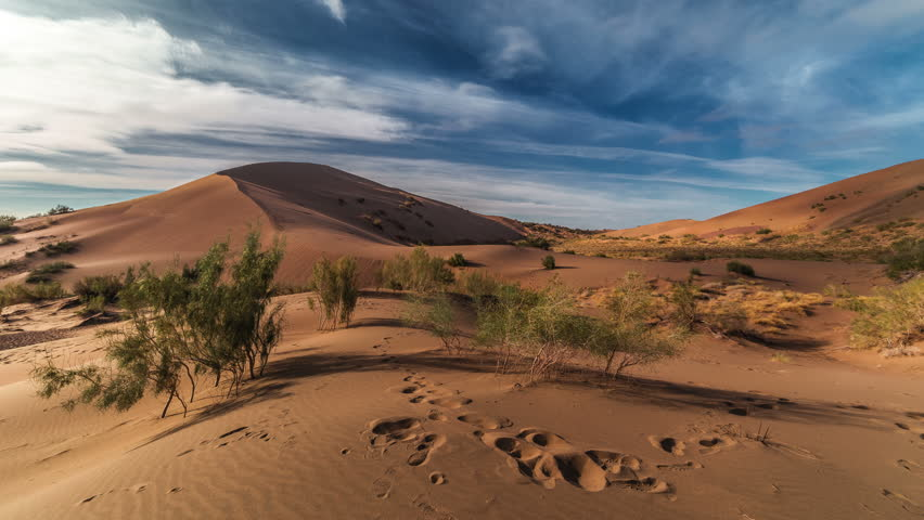 Singing Dunes in desert national park Altyn-Emel, Kazakhstan. 4K TimeLapse - September 2016, Almaty and Astana, Kazakhstan | Shutterstock HD Video #20651050