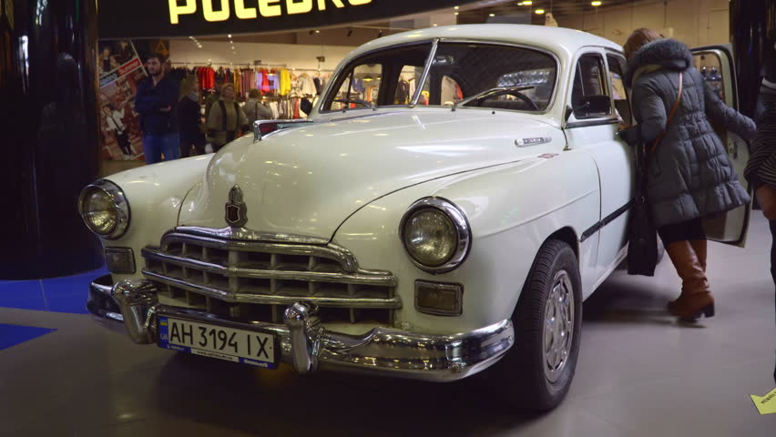 Mariupol Ukraine October Exhibition Of Vintage Cars