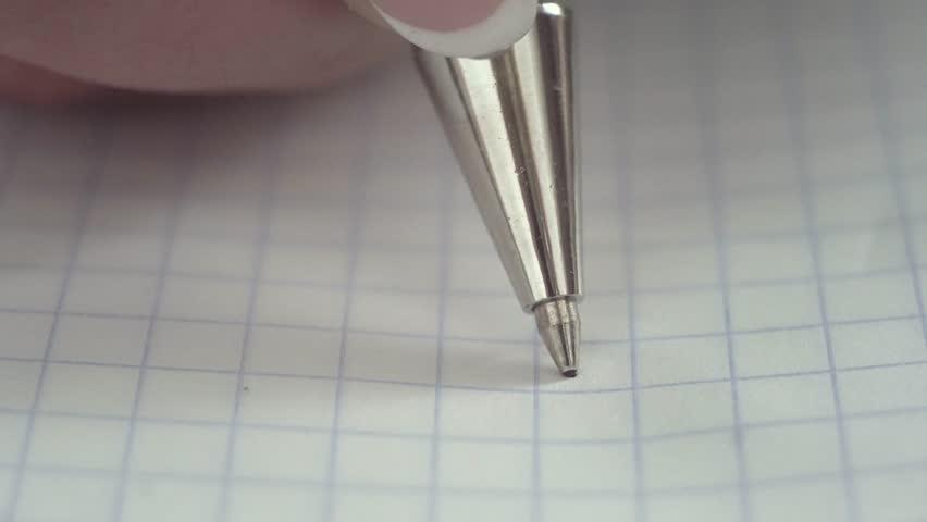 Pen writes a letter on paper. Closeup. Shallow depth of field | Shutterstock HD Video #21004441