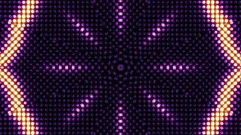 Kaleidoscope Lights Bulb, Light Animation, Loop, 4k