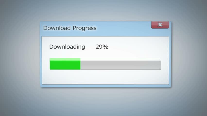 downloading status