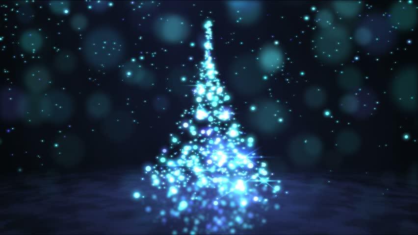 Sparkling Rotating Christmas Tree Animation - Loop Blue   Shutterstock HD Video #21049951