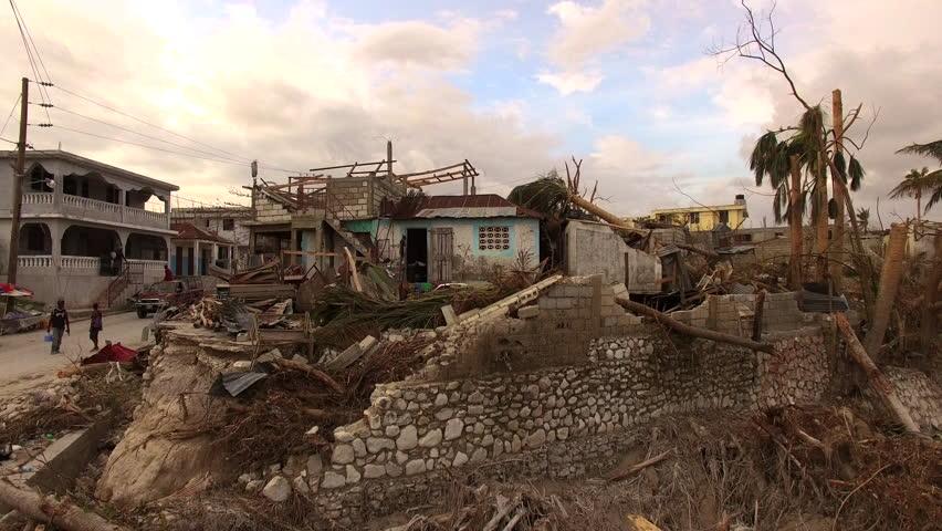 Drone shots after the Hurricane Matthew Port Salute Haiti