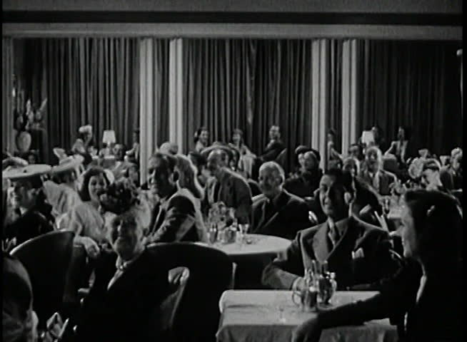 1940s, audience in nightclub applauding