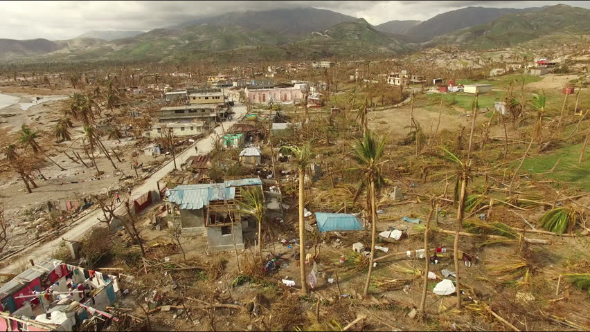 Drone footage Haiti after the Hurricane Matthew