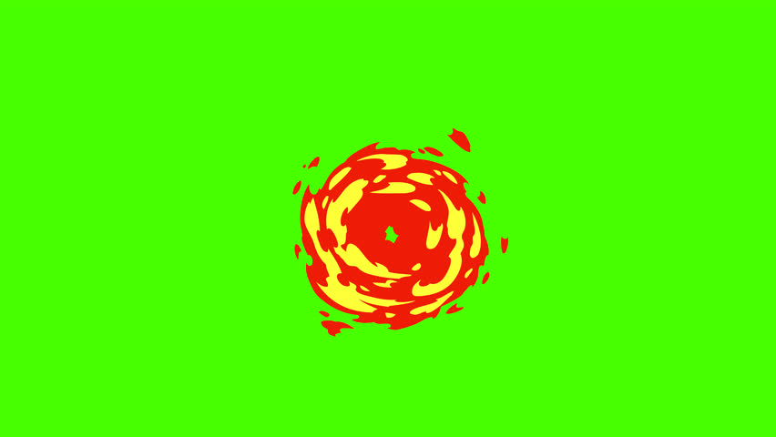 2d Cartoon FX Pack 4K 30 Fire Elements. Pre-rendered with green background with 4K resolution.
