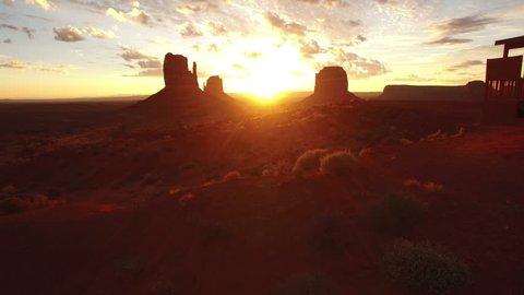 Monument Valley Aerial Sunrise 07
