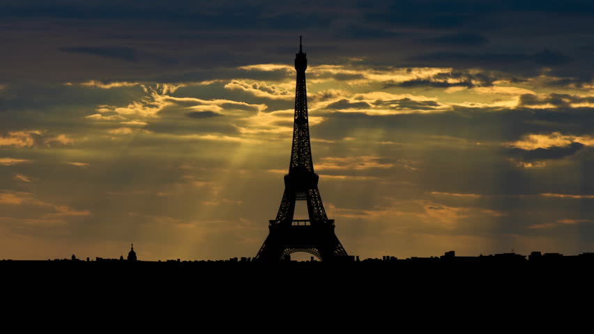 The Eiffel Tower is the most recognizable landmark of Paris, France. Built in 1889 as the entrance arch to the 1889 World's Fair it have become the world known attraction.    | Shutterstock HD Video #2124251