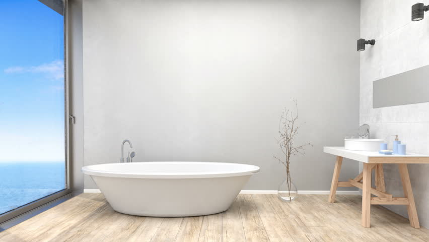 . Modern Bathroom Interior Stock Footage Video  100  Royalty free  21345631    Shutterstock