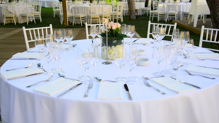 Wedding Round Table Guest Setup Stock Footage Video 100 Royalty Free 21354751 Shutterstock