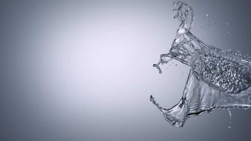 Water splash shooting with high speed camera.