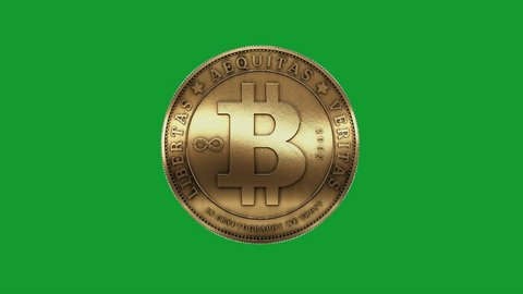 Rotation of gold bitcoin coin,Virtual Currency. cg_00241