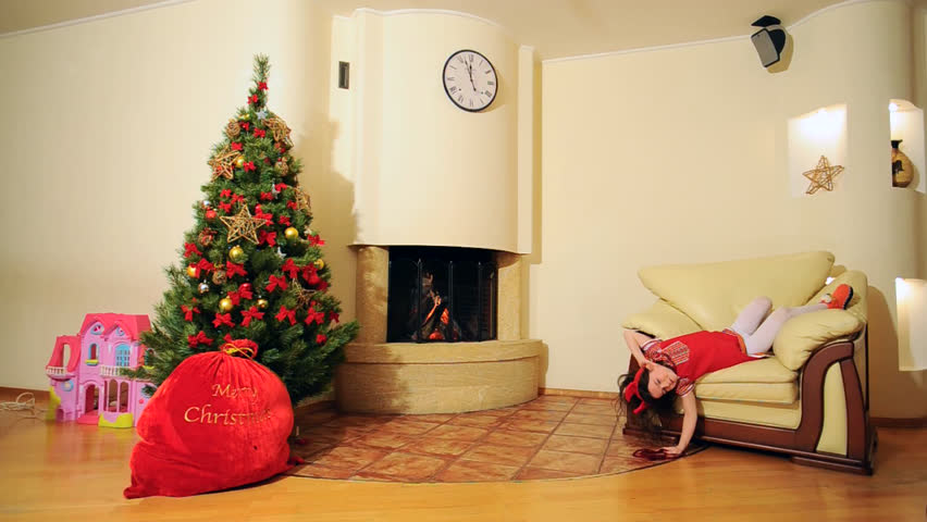 Christmas Living Room Video Background Stock Footage