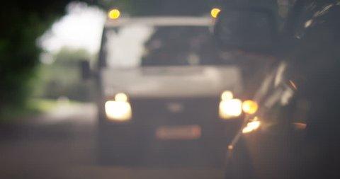 4k, Roadside mechanic arriving to help a stranded customer.