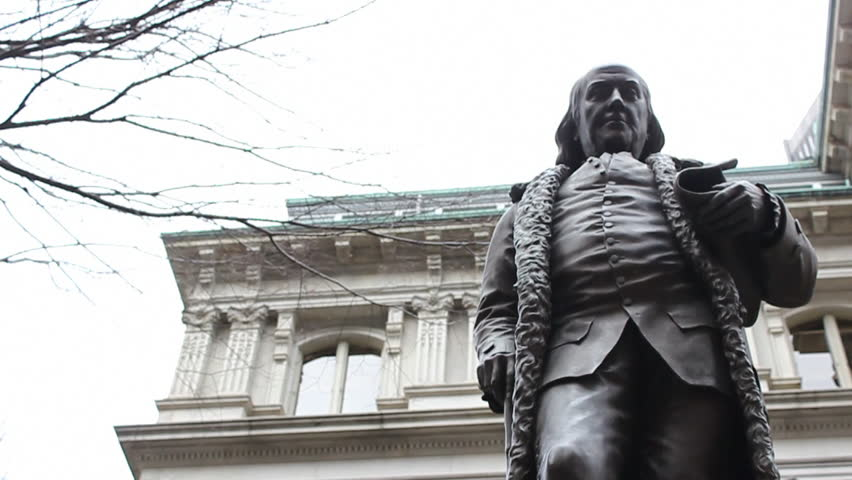 Statue of Benjamin Franklin in Boston