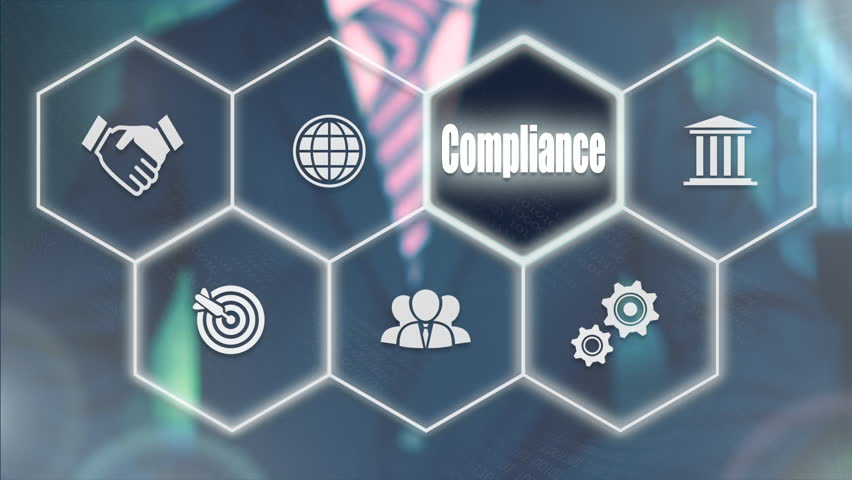 Businessman pressing a Business Compliance concept button. | Shutterstock HD Video #21520681