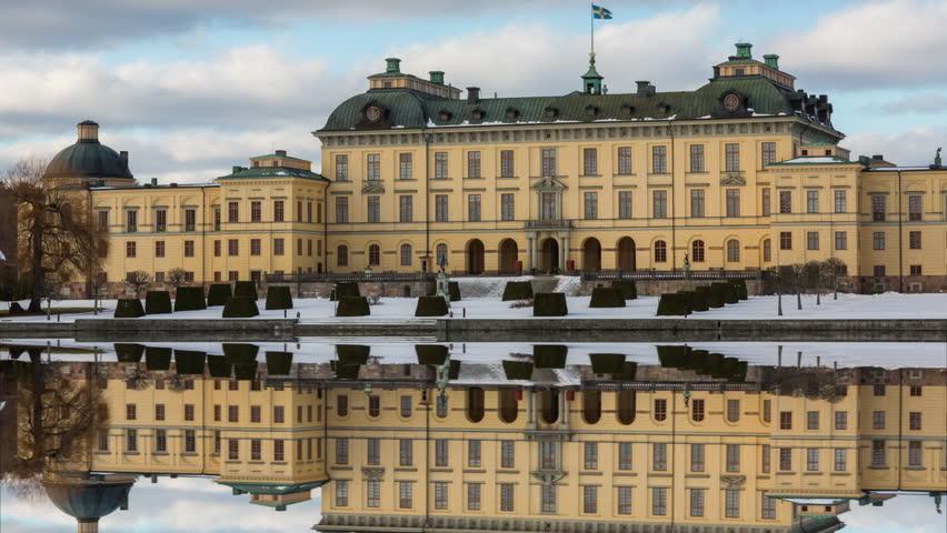 Time lapse of Drottningholm Palace outside of Stockholm, Sweden.