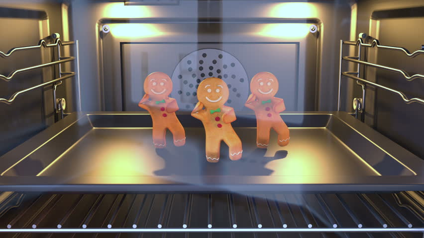 Gingerbread man Dancers - . 3D animation of funny, hot and sweet cookie boy dancing for holiday and kid event, show, VJ, party, music, website, banner, dvd