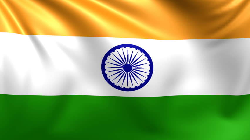 Indian Flag Animated: Indian Flag Waving With Room For Text, Logos, Graphics And