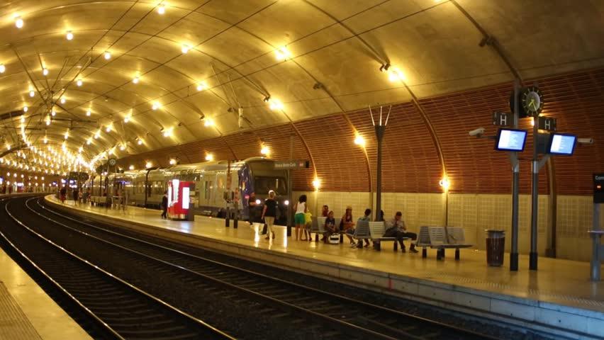 MONTE CARLO, MONACO - AUGUST 3, 2016: Interior Of Railway Station ...