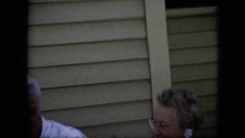 CALIFORNIA 1969: three old folks talking | Shutterstock HD Video #21621931