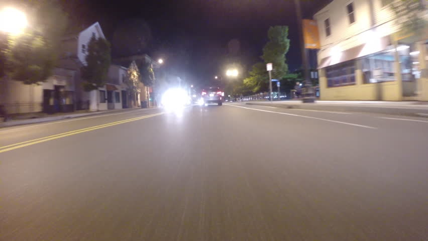 Gopro Attached To Bumper Of Car At Night | Shutterstock HD Video #21630571