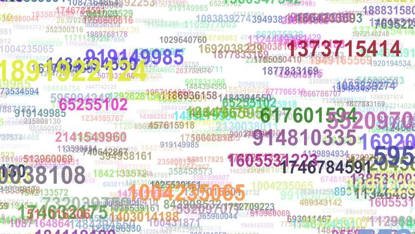 Random numbers data flow seamless loop | Shutterstock HD Video #21689611