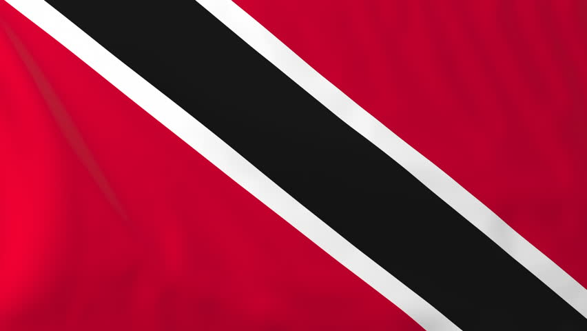 Flag of Trinidad and Tobago. Rendered using official design and colors. Seamless loop. | Shutterstock HD Video #21707671