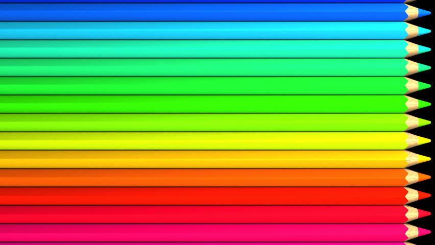 Color Pencils. Loop Able 3dcg Stock Footage Video (100% ...
