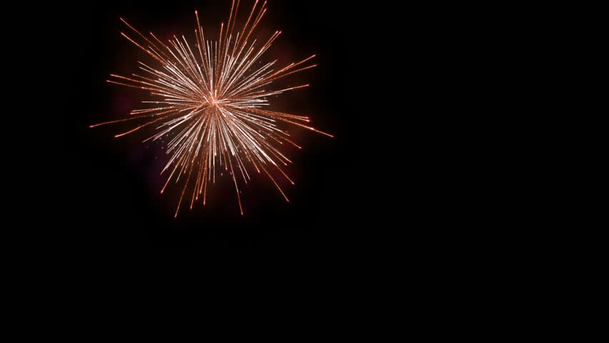 Holiday fireworks display against, Alpha PNG