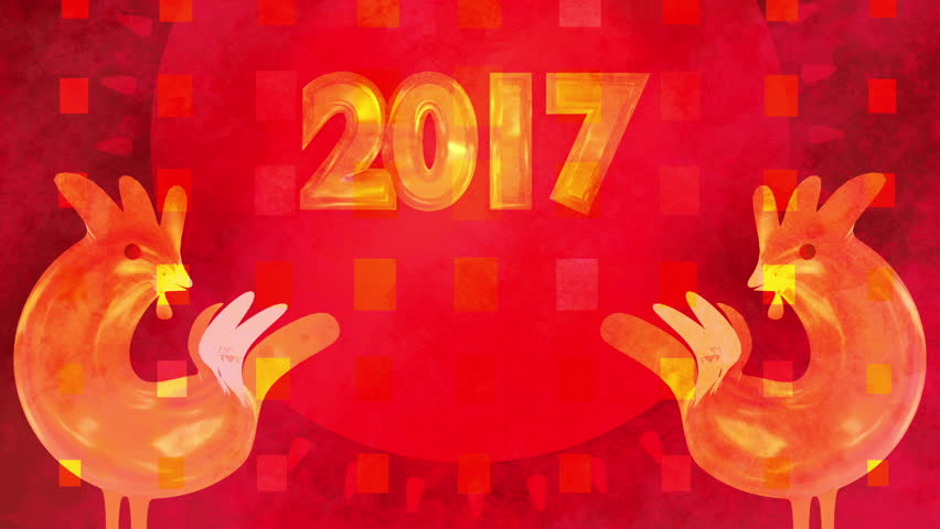 2017 Chinese New Year Greetings Stock Footage Video 100 Royalty