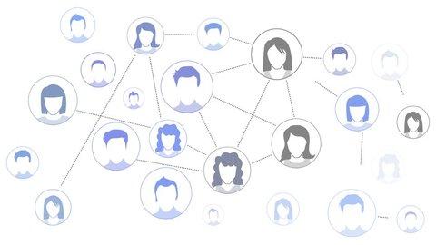 graphic representation Social media Network animation