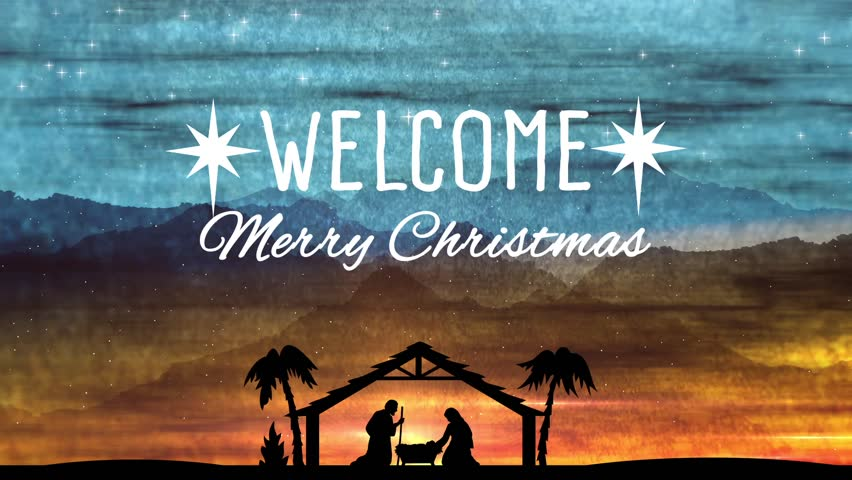 Stock Video Of Welcome Title Background Merry Christmas Text