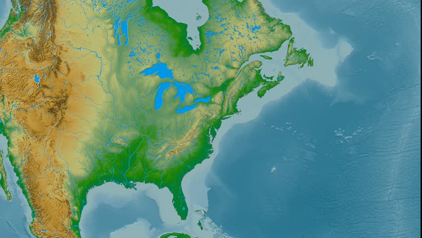 Hawaii Region Extruded On The Physical Map Of United States - Us map aster