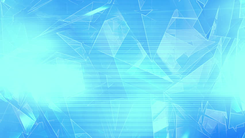Animated broken geometric shapes low poly loop in blue | Shutterstock HD Video #21886741