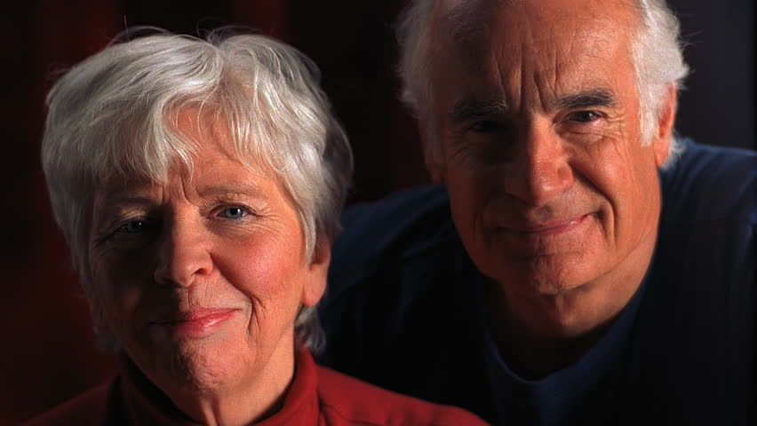 Older couple interact