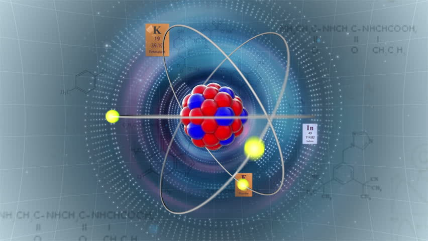 Scientific background atom model with elements of periodic table atom model with elements of periodic table and chemical formulas stock footage video 2191351 shutterstock urtaz Image collections