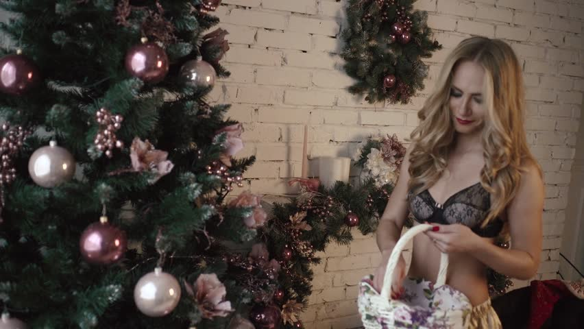 Sexy christmas lingerie video