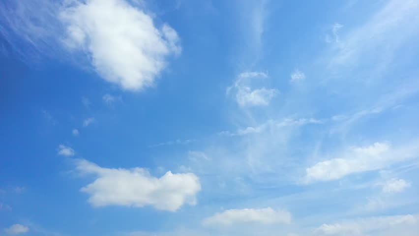 Deep Blue Sky - Clouds Timelapse nature background. #21945931