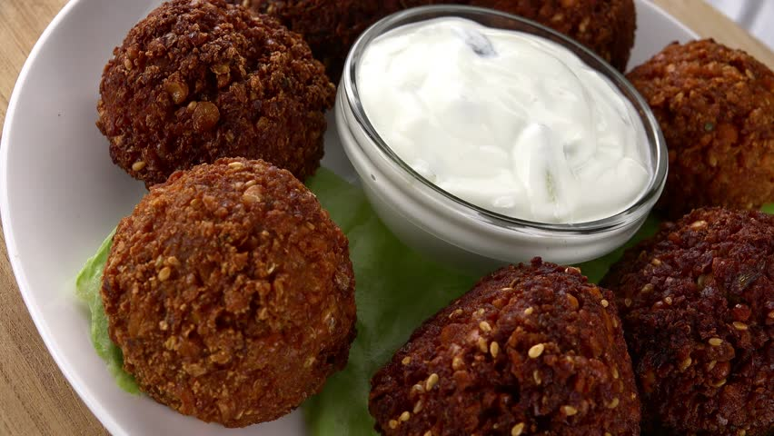 Egyptian Falafel as seamless loopable rotating 4K UHD footage
