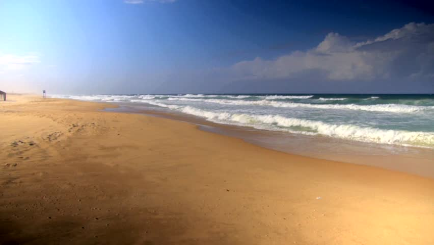 Sandy Beach, South of Israel, Storm is coming