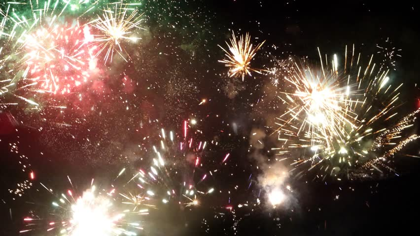 New Year multi fireworks on night sky | Shutterstock HD Video #22136521