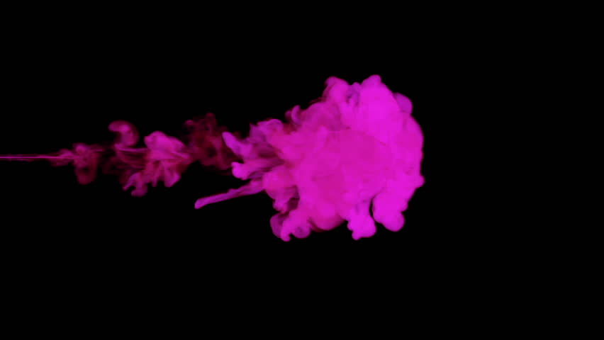violet paint dissolved in water on a black background. 3d render. voxel graphics. computer simulation 3. Ink distribution in the water #22143721