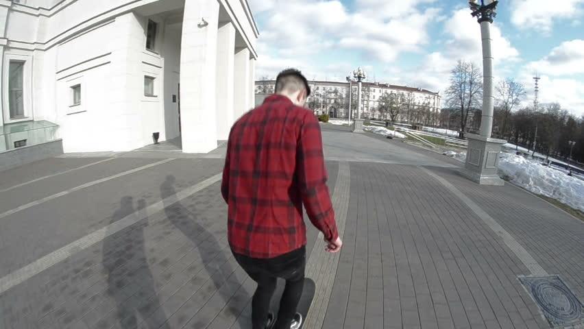 Man and skateboard training  #22145971