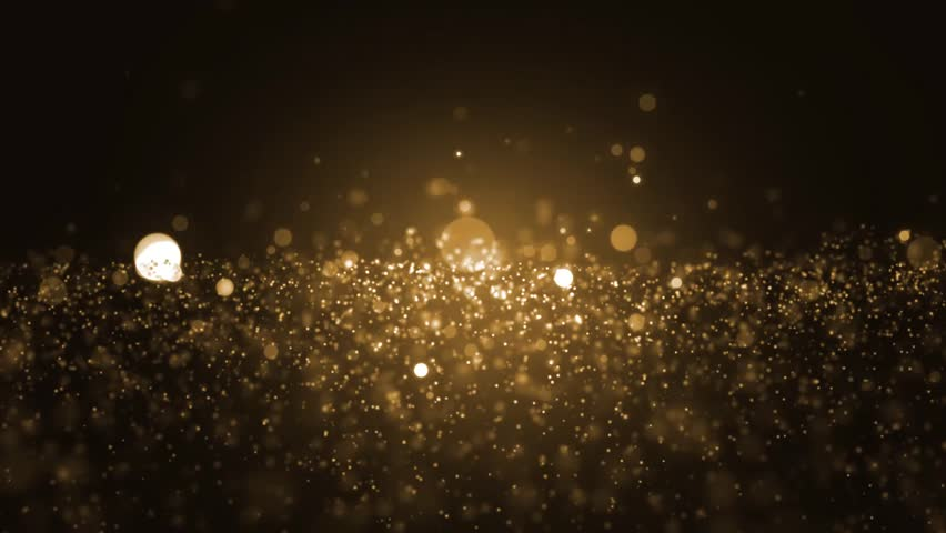 Background gold movement. Universe gold dust with stars on black background. Motion abstract of particles. VJ Seamless loop. #22189471