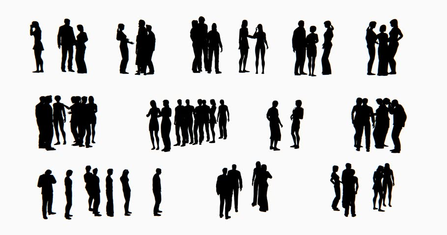 4k a group of Business people silhouette talking. cg_02773_4k