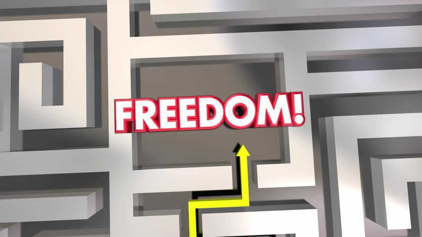 Freedom Liberation Get Out Of Maze Arrow 3d Animationmov