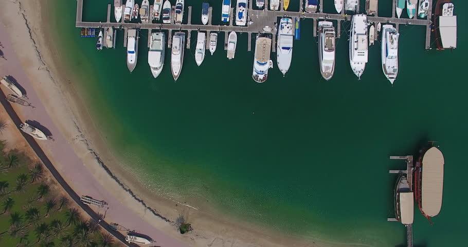 Abu Dhabi Lulu Island Marina from above