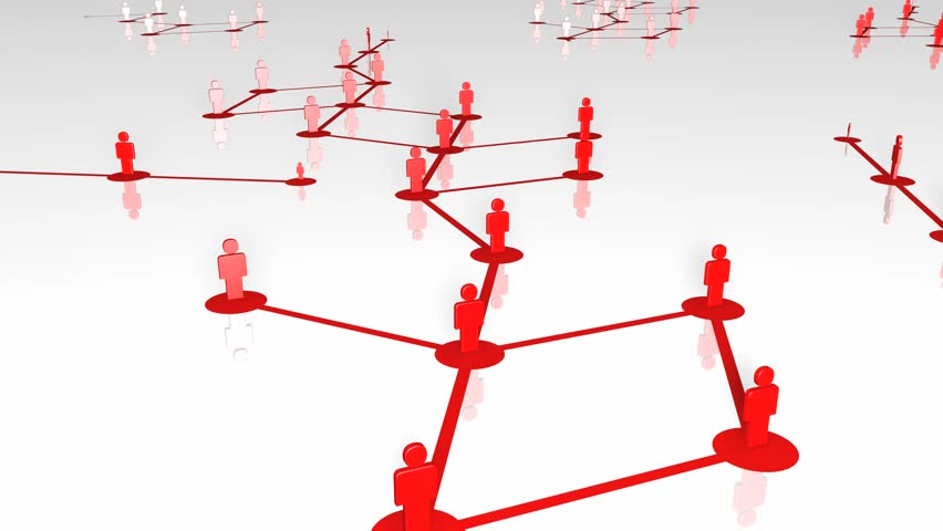 Network growing, creating red connections. 3D Rendering with low reflection. 4K. | Shutterstock HD Video #22388491